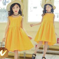 韩版女童装连衣裙夏季儿童装中大童公主裙小女孩背心裙子