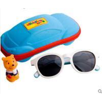 卡通时尚小孩偏光太阳镜装饰镜3-8岁儿童硅胶太阳镜男女童墨镜