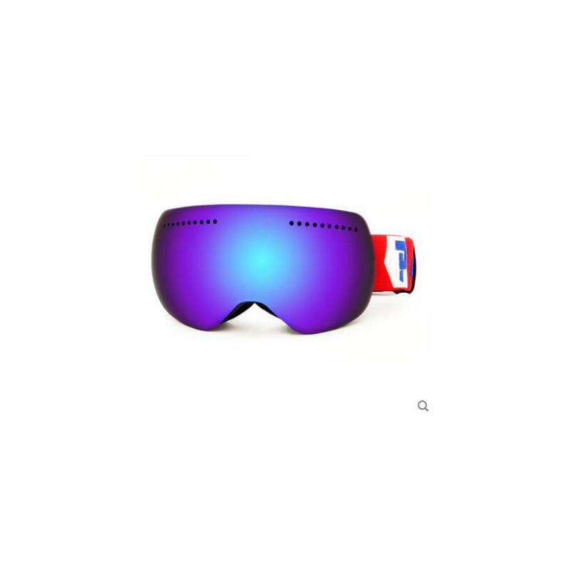 防紫外线登山滑雪眼镜大球面滑雪镜双层防雾男女户外登山大视野可卡近视 品质保证,支持货到付款 ,售后无忧