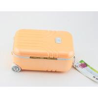 拉杆旅行箱粉红音乐盒八音盒 旋转跳舞小女孩首饰盒 创意生日礼物