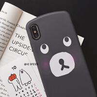 可爱小熊苹果xs/max/xr手机壳iPhone8/7plus全包软壳6s防摔保护套