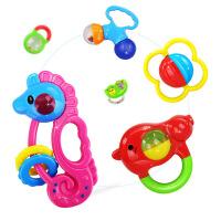 宝宝益智玩具婴儿摇铃新生儿摇铃牙胶礼盒8件套