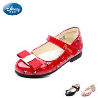 迪士尼Disney童鞋2018新款儿童皮鞋米妮公主鞋女童时装鞋时尚典雅校园学生鞋 (5-9岁可选)DS2341