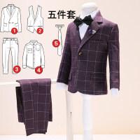 秋冬款儿童西装套装5件套男童装宝宝西服花童礼服男韩版演出外套