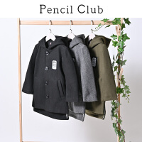 【3折价:158.7】铅笔俱乐部童装2019秋冬新款男童毛呢外套加厚中长款中大童外套