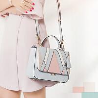 【支持礼品卡支付】韩版时尚小方包女包2018夏季新款单肩斜挎手提包包 D-7008