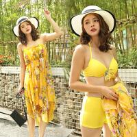 性感女士泳衣三件套比基尼韩版修身显瘦时尚分体平角沙滩泳装批发
