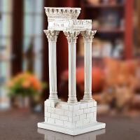 工艺品摆件微型罗马柱客厅房间创意新居礼物欧式复古软家居装饰品