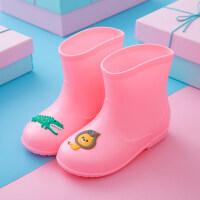 套鞋儿童雨鞋加绒保暖宝宝雨靴女童男童小孩小童水鞋防滑水靴胶鞋
