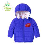 迪士尼Disney童装宝宝加厚上衣新款保暖男童衣服休闲外出棉袄秋冬164S855