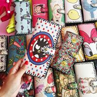 韩国复古学生女长款原宿涂鸦日系可爱卡通情侣钱包皮革钱夹皮夹潮