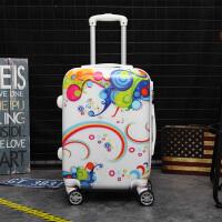 子母箱拉杆箱万向轮卡通行李箱20寸儿童旅行箱24寸学生皮箱子女士 糖果色/单箱 20寸经典款【终身售后质保】