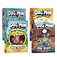 【全店300减100】英文原版 神探狗狗4册 DOG MAN 5-8 儿童图画故事书漫画绘本幽默搞笑Brawl of t