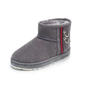 WARORWAR 2019新品YM159-E976冬季休闲平底鞋舒适女鞋潮流时尚潮鞋百搭潮牌雪地靴