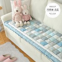韩式纯棉手工拼接全棉沙发垫四季通用防滑加厚客厅馒头垫子套巾罩