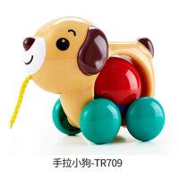 皇室手拉小狗小鸭宝宝拉线绳会跑拖拉学步玩具1-3岁 抖音