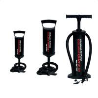 充气泵高效手动泵手拉泵手拉式打气筒打气泵冲气筒三气嘴 黑色