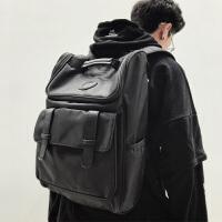 潮牌简约日本双肩包 男时尚潮流书包男士 高中生大学生韩版电脑背包