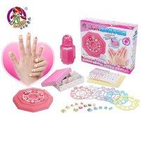 乐吉儿儿童甲贴美甲套装指 益智手工diy玩具3-6周岁女孩生日礼物 美丽不伤手 多款主题搭配 女孩玩具