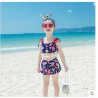 儿童可爱游泳衣时尚宝宝温泉裙式泳装女孩比基尼分体三件套女童