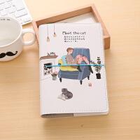 A6活页手账本韩国可爱绑带创意皮面笔记本子记事本小清新彩页日记本少女文艺随身旅行计划本