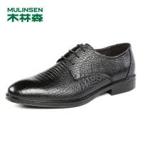 木林森男鞋2018秋季新款商务正装皮鞋 87053030