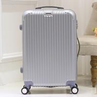 镜面万向轮拉杆箱学生行李箱20寸24寸28寸箱包男女密码箱潮旅行箱SN9993 银色 镜面
