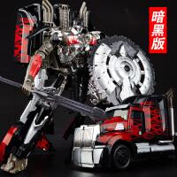 儿童汽车人机器人模型 变形玩具金刚5暗黑合金电影原版擎天v柱男孩