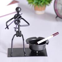 创意音乐铁人烟灰缸 办公室家居日用工艺摆件商务礼品生日礼物