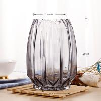 鲜花玻璃花瓶摆件客厅插花现代简约满天星玫瑰百合养花玻璃瓶欧式