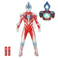 超大银河奥特曼玩具套装软胶怪兽人偶火花儿童超人男孩迪迦变身器