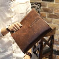 男包 男士斜挎包包手提包复古包斜跨韩版包商务休闲单肩包 咖啡色