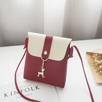 19新款时尚撞色竖款小包女包韩版休闲包包单肩斜跨小包包BLL0806