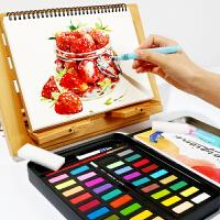 乔尔乔内儿童固体水彩颜料24 36色套装 初学者写生水粉画颜料工具