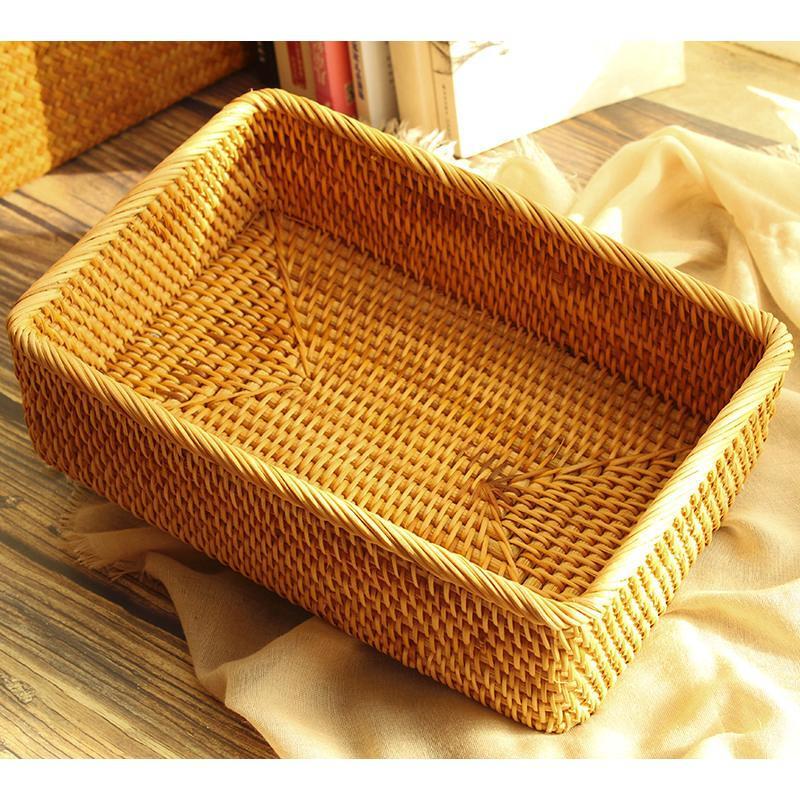 家用馒头框筐水果篮藤编装鸡蛋茶几面包整理收纳编织筐厨房馍篮子  购好货上京东!