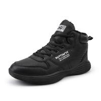 冬季新款加绒保暖高帮运动鞋男休闲户外男鞋韩版学生跑步板鞋男士