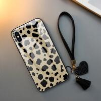 佳朗苹果6s手机壳iPhone XS性感豹纹6 plus防摔7全包8软边7plus玻璃套8plus潮 iPhone X