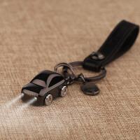 钥匙扣情侣汽车钥匙挂件LED灯钥匙链男女创意礼品定制SN6607 黑色 0196带LED灯