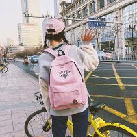 书包韩版原宿高中生女学生双肩包旅行潮背包防盗初中双肩包