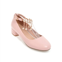 春款儿童高跟鞋2018新款女童鞋小学生演出鞋走秀礼服公主皮鞋女孩SN4626