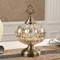欧式玻璃水晶水果盘三件套客厅创意茶几现代样板房花瓶装饰品摆件