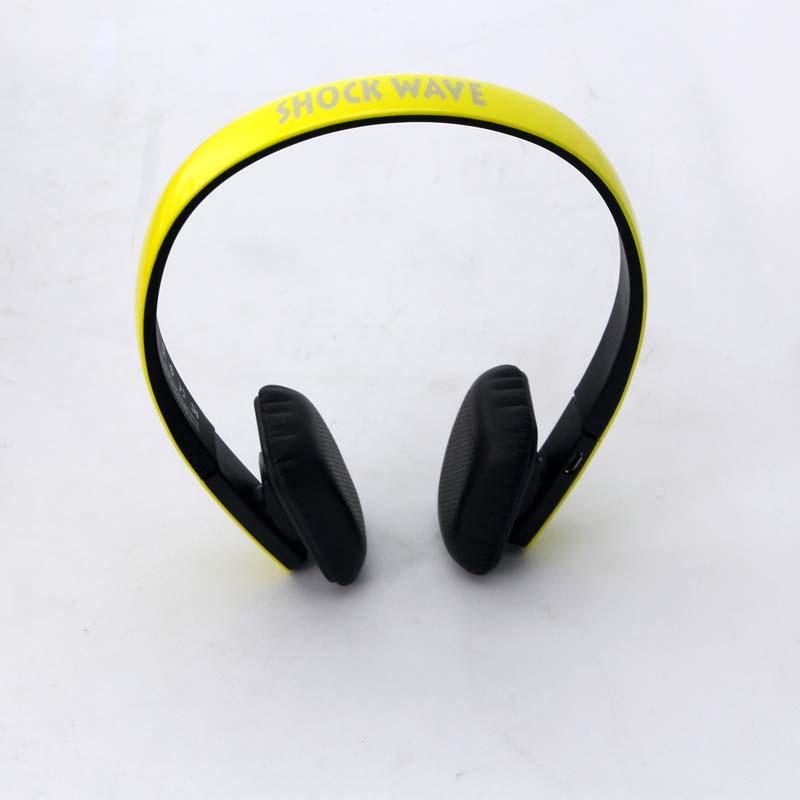 shockwave冲击波 SHB-921BH 蓝牙有线无线双用耳机 亮黄色头戴式HiFi立体声 内置麦可通话 蓝牙耳机