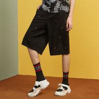 【2件2.5折叠券价约:29.2】美特斯邦威休闲短裤男士秋季新款修身直筒中裤商场款
