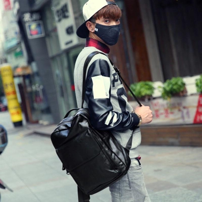 真皮男士小背包韩版休闲双肩包女牛皮大中学生书包户外百搭旅行包