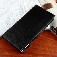 创意钱包卡包韩版软皮男士长款薄钱包钱夹 209-3黑色