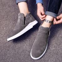冬季男士雪地靴加绒保暖棉鞋男靴韩版潮流短靴棉靴面包鞋马丁男鞋