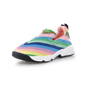 正品比比我2017新款韩版儿童休闲运动鞋女一脚蹬女童单鞋懒人鞋舒适跑步鞋
