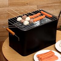 【每满100减50】ORZ 黑色长方形家用烧烤炉 可拆易清洗烧烤架户外家用烧烤箱带提手