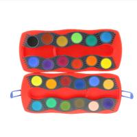 24色12色固体水彩颜料 可拼装写生水彩套装
