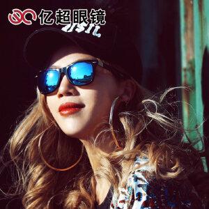 亿超太阳镜女圆脸墨镜潮 复古圆形时尚偏光开车眼镜大码YC9709